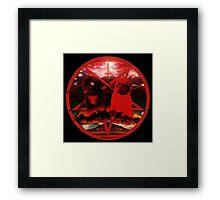 red pugtagram Framed Print