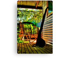 """On The Verandah"" Canvas Print"