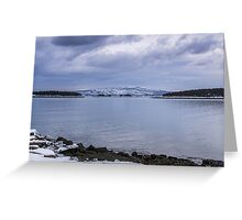 Acadia National Park Winter Time Greeting Card