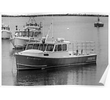 New England Lobster Boats Winter Time Poster
