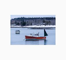 New England Lobster Boats Winter Time Unisex T-Shirt