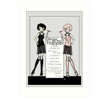 Gatsby Girl 1920s Recipe for Flapper  Art Print