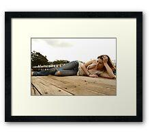 Peach - wharf floor Framed Print