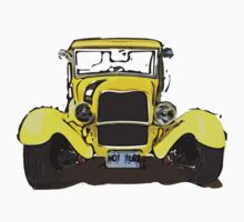 Classic Yellow Old Car Baby Tee