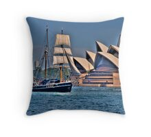 Sail To Sail - Moods Of A City - The HDR Experience Throw Pillow