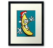 Merry Christmas Banana Happy New Year Framed Print
