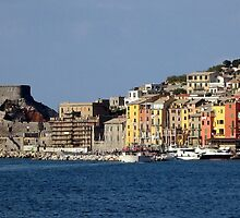 Panorama of Portovenere Italy by Carla Parris