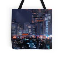 Twilight in Tokyo & Mount Fuji decided to put in an appearance Tote Bag