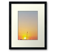 Sun and Sunrise Framed Print