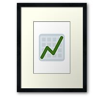Chart With Upwards Trend Twitter Emoji Framed Print