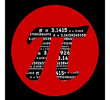 Pi Day graphic in red and black  Photographic Print