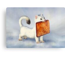 Toast Weasel Canvas Print