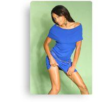 Little Blue Dress Canvas Print