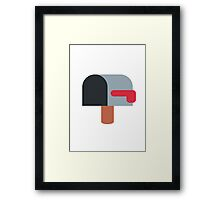 Open Mailbox With Lowered Flag Twitter Emoji Framed Print