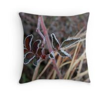 frosted leaves Throw Pillow