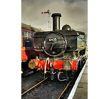 Steam Locomotive at Embsay Railway Photographic Print
