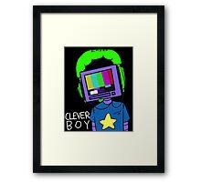 clever boy (color) Framed Print