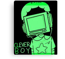 clever boy (green) Canvas Print