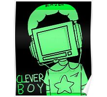 clever boy (green) Poster