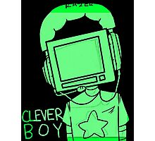 clever boy (green) Photographic Print