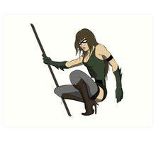 Super Hero Woman Art Print