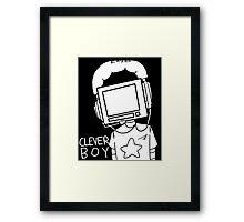 clever boy (white) Framed Print