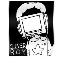 clever boy (white) Poster
