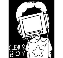 clever boy (white) Photographic Print