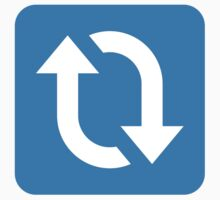 Clockwise Downwards And Upwards Open Circle Arrows Twitter Emoji Kids Clothes