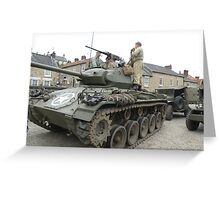 M24 Light Tank Greeting Card
