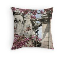 notre dame in bloom Throw Pillow