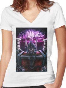 Ultra Magnus ruins of Cybertron Women's Fitted V-Neck T-Shirt