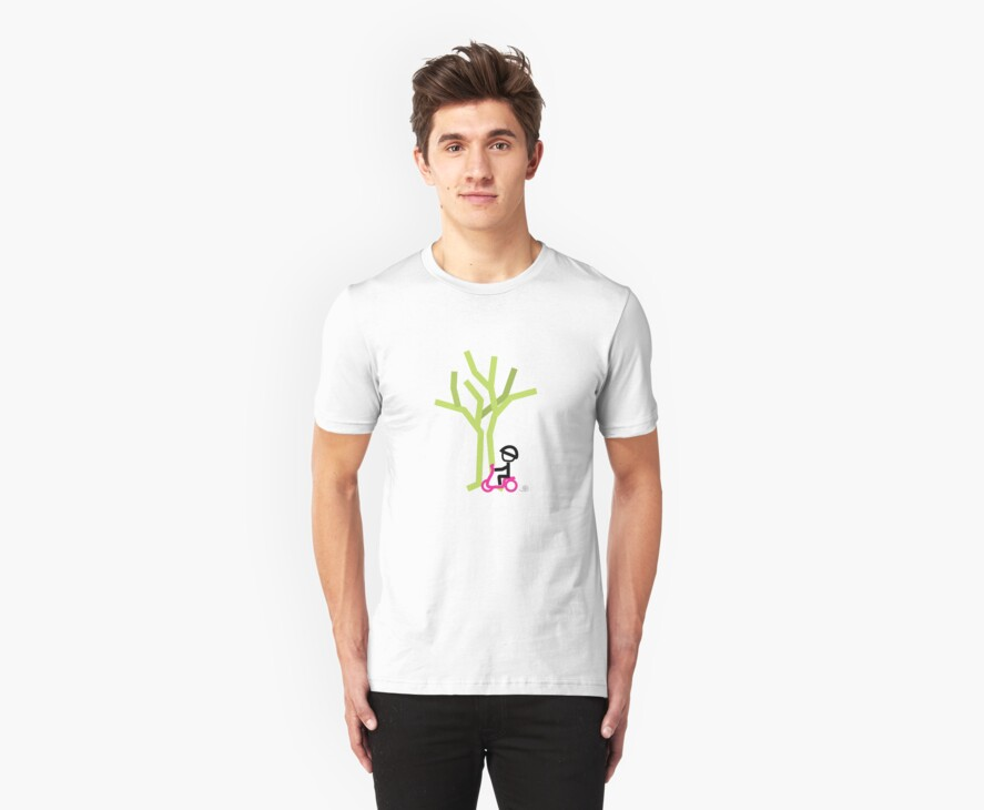 Scootery Boy series - scootin' through autumn t-shirt by go sugimoto