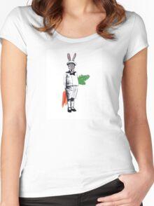 Mischievous Rabbit Women's Fitted Scoop T-Shirt