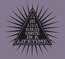 Pi Day Pyramid Once in a Lifetime Black Design Kids Clothes