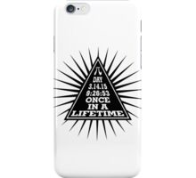 Pi Day Pyramid Once in a Lifetime Black Design iPhone Case/Skin