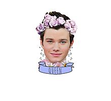 Chris Colfer Queen Photographic Print