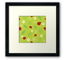 Red and Black Ladybugs Characters Framed Print