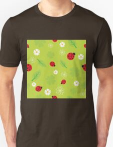 Red and Black Ladybugs Characters Unisex T-Shirt