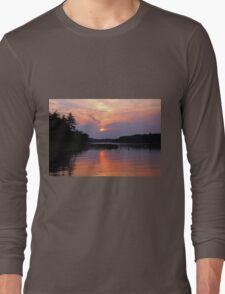 Moon River Silhouette Long Sleeve T-Shirt