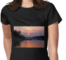 Moon River Silhouette Womens Fitted T-Shirt