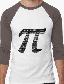 Pi Day Graphic Symbol Men's Baseball ¾ T-Shirt