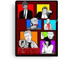 pulp fiction character collage pop art Canvas Print