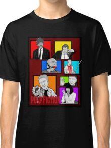 pulp fiction character collage pop art Classic T-Shirt