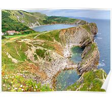 Stair Hole and Lulworth Cove Dorset UK - HDR  Poster