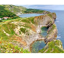 Stair Hole and Lulworth Cove Dorset UK - HDR  Photographic Print