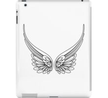 Angel Wings Black and White iPad Case/Skin