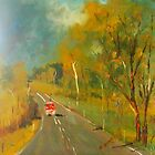 Praise for the CFA; help is on the way (oil on board) Country Victoria by Margaret Morgan (Watkins)