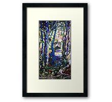 blue garden Framed Print