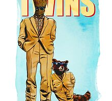 Rocket Groot - Twins by rabbittree